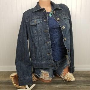 Tribal denim blue classic jean jacket stretch Sz 8